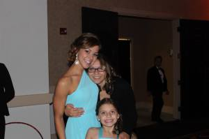 Danny's nieces & I at the wedding.
