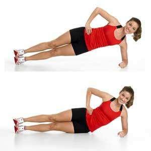 side plank raises