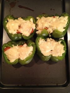 Stuffed Peppers_Chicken Sausage and Egg White