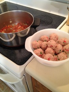Turkey Bruschetta Meatballs