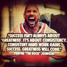 The Rock - success is about consistency greatness will come