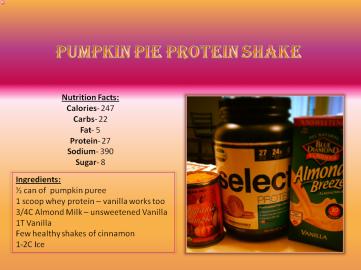 Protein Shake - Pumpkin Pie