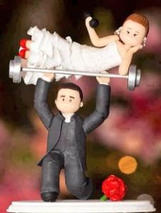 fitcouple - wedding cake topper