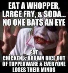 joker - eat mcdonalds ok eat clean freak out